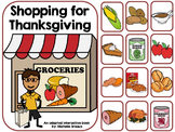 Shopping for Thanksgiving- Adapted Interactive Book {Autism, Early Childhood}