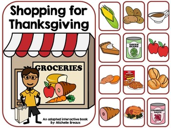 Shopping for Thanksgiving- Adapted Interactive Book {Autis