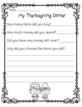 Shopping for Thanksgiving Dinner