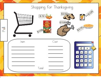 Shopping for Thanksgiving SMART Board Activity