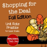 Shopping for the Deal - A Middle School Math Unit Rate Act