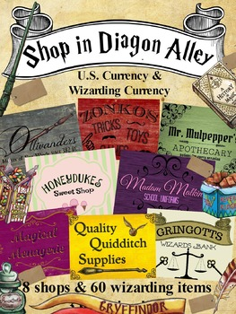 Shopping in Diagon Alley (Coins, Bills, Money, Hogwarts, Harry Potter )