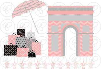 Shopping in Paris Fair Skin Fashionistas Clipart by Poppydreamz