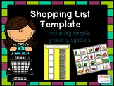 Shopping list template AAC