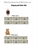 Do you have enough money? Shopping with Dollar Bills