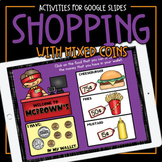 Shopping with Mixed Coins • Mixed Coin Addition Game   Mat