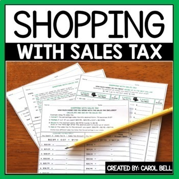 Sales Tax Worksheets