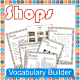 Shops ESL / EFL Vocabulary Builder - English+Chinese