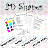 2D Shapes ESL / EFL Vocabulary Builder - English+Chinese