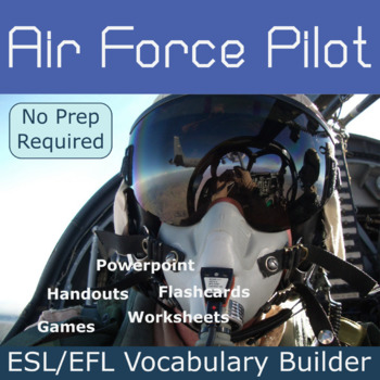 Air Force Pilot ESL / EFL Vocabulary Builder - English+Chinese