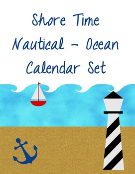 Shore Time – Nautical Theme Calendar Set