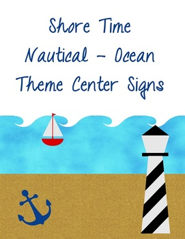 Shore Time – Nautical Theme Center Signs