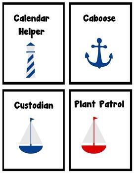 Shore Time – Nautical Theme Job Cards