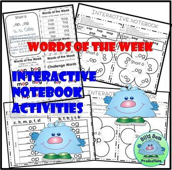 WORD FAMILY CVC WORD WORK Short O OP and OG Activities Assessments
