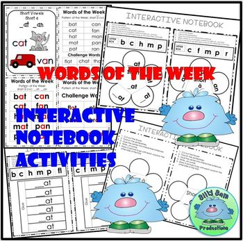 WORD FAMILY CVC WORD WORK Short A AT and AN  Activities Assessments