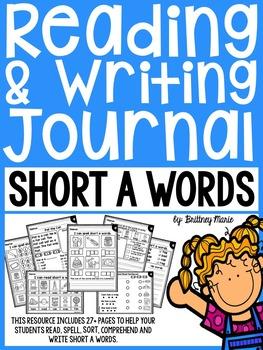Short A CVC Activities Journal