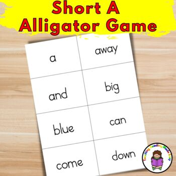 Short A Alligator Game - Game to teach the Short A Sound