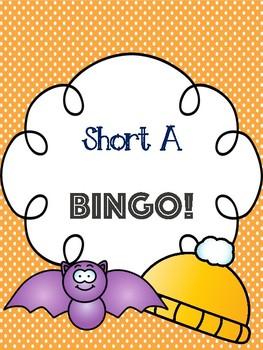 Short A Bingo [10 playing cards]