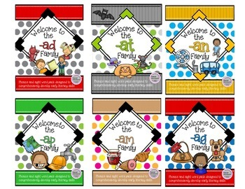 Short A Bundle WORD FAMILY PHONICS AND SIGHT WORD WORK EARLY LITERACY DECODING