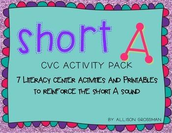 Short A {CVC} Activity Pack