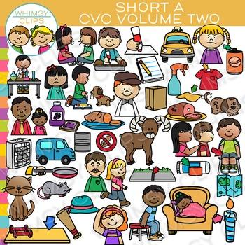 CVC Short A Vowel Clip Art  - Volume Two