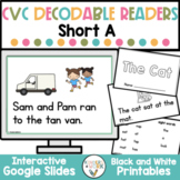 Short A CVC Decodable + Sight Word Books | Emergent Readers
