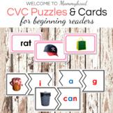 Short A CVC Printables Bundle: Puzzles, Cards, and Word List