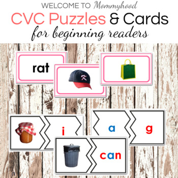 Short A CVC Printables Bundle: Puzzles, Cards, and Word List