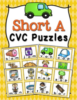 Short A Words CVC Puzzles