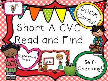 Short A CVC Read & Click Boom Task Cards!