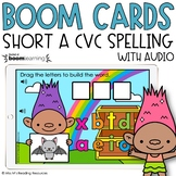 Short A CVC Spelling Boom Cards™ for Distance Learning