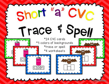 Short A CVC Trace and Spell