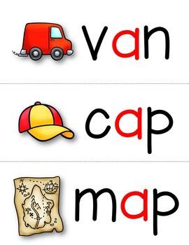 Short a CVC Word Cards