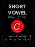 Short A CVC Word Family Cards