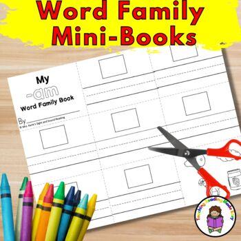 Short A CVC Word Family Worksheets- Minibooks