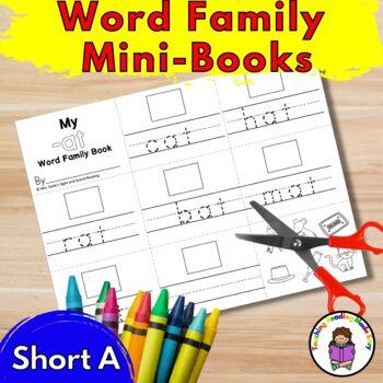 Short A CVC Worksheets  (25 Word Family Minibooks)