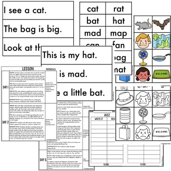 Short A CVC Word Phonics By Design Mini-Unit
