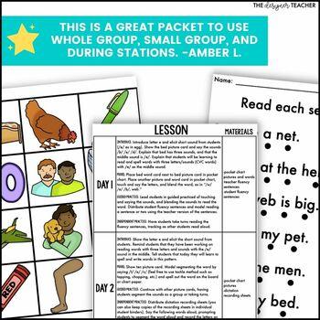 Phonics By Design Short E CVC Word Mini-Unit