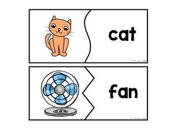 Short A CVC Word Puzzles