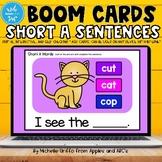 Short A CVC Word Sentences Boom Cards / Digital Task Cards / Distance Learning