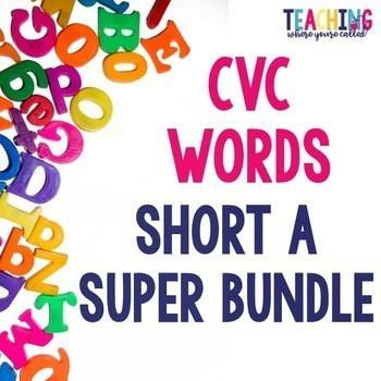 Short A CVC Words Super Bundle