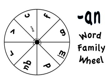 Short A CVC Word Wheel Word Work