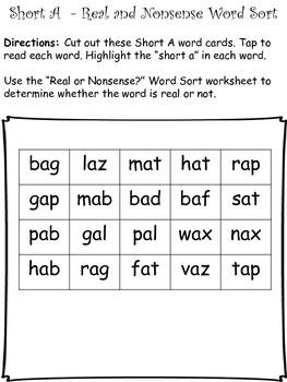 Short A - CVC - Word Work Bundle