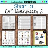 Short A CVC Word Work Printables 2