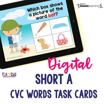 Short A CVC Words Digital Cards