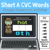 Short A CVC Words Google Classroom Activities