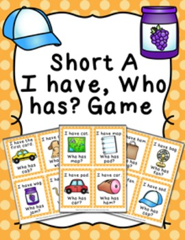 Short A CVC Words I Have Who Has? Game