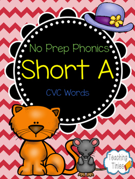 Short A CVC Words: No Prep Phonics Pack