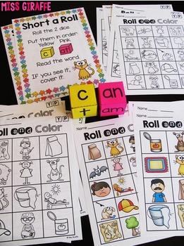 Short A CVC Words Roll Centers