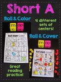 Short A CVC Words Roll Literacy Centers (Short Vowel Games)